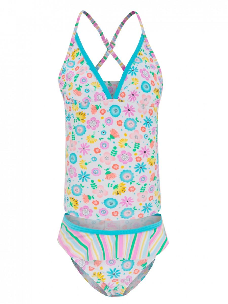 Costume due pezzi slip e canotta con protezione uv 50 bambina for Costume piscina 2 pezzi